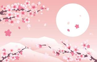 sfondo di fiori di ciliegio vettore
