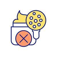 inquinamento ambientale con particelle microplastiche icona colore rgb vettore