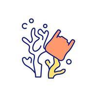 icona di colore rgb inquinamento delle acque vettore
