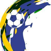 disegno astratto di calcio vettoriale