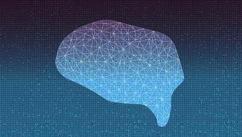 tecnologia del cervello sullo sfondo del microchip del circuito vettore