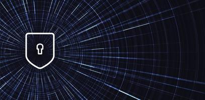 sfondo di scudo di tecnologia digitale vettore