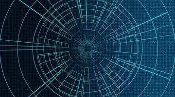 tecnologia degli occhi digitali su sfondo futuro vettore