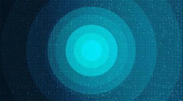 microchip del circuito blu scuro su sfondo di tecnologia vettore