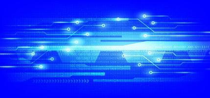 sfondo blu del circuito vettore