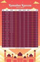 calendario illustrativo del ramadan vettore