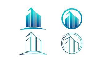 illustrazione di vettore del modello di logo creativo del grafico di finanza di contabilità