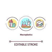 icona del concetto di microplastiche vettore