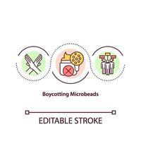 icona del concetto di boicottaggio di microperline vettore