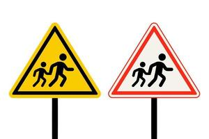 set di segnali di attraversamento pedonale vettore