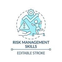 icona di concetto blu di abilità di gestione del rischio vettore