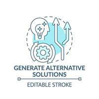generare soluzioni alternative blu concetto icona vettore