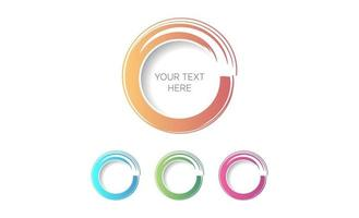 cerchio pennello colore acqua logo design vettoriale
