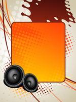 musica da speaker art vettore