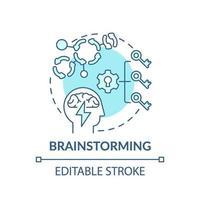 icona di concetto blu di brainstorming vettore
