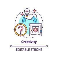 icona del concetto di creatività vettore