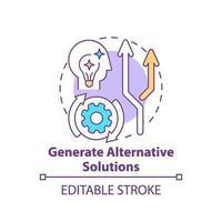 generare icona del concetto di soluzioni alternative vettore