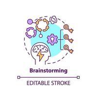 icona del concetto di brainstorming vettore