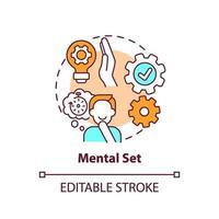 icona del concetto di set mentale vettore