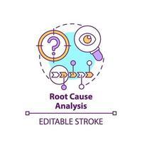 icona del concetto di analisi della causa principale vettore