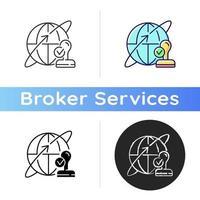 icona del broker personalizzato vettore