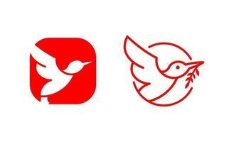 colibrì creative logo design template vettoriale