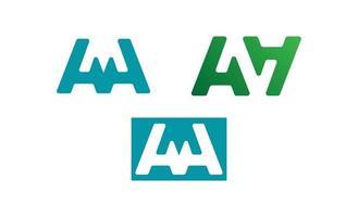 lettera un logo imposta ispirazione creativa vettore di design