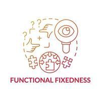icona del concetto di gradiente rosso fissità funzionale vettore