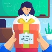 progettazione del giorno dell'insegnante vettore