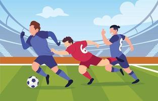 partita di calcio uefa vettore