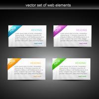 elementi web vettore