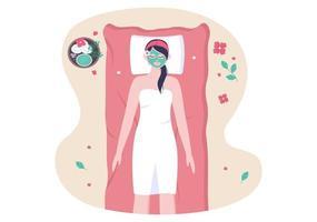 illustrazione vettoriale di massaggio nel salone di bellezza
