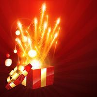 scatola regalo che esplode
