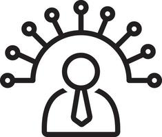 icona della linea per l'amministratore vettore