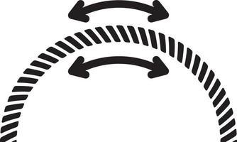 icona della linea per flessibile vettore