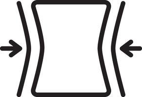 icona linea per vestibilità vettore