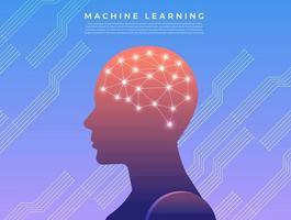 illustrazione di apprendimento automatico vettore