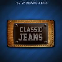 etichetta di jeans classici vettore