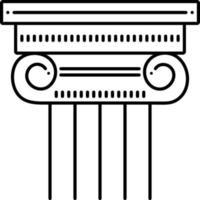 icona linea per colonna vettore
