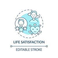 icona del concetto di turchese soddisfazione di vita vettore