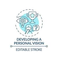 lo sviluppo di un'icona del concetto turchese di visione personale vettore