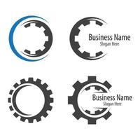 immagini del logo dell'ingranaggio vettore