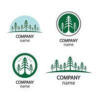 illustrazione di immagini del logo dell'albero di pino vettore