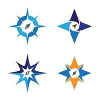 immagini del logo della bussola vettore
