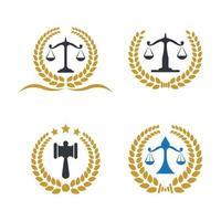 illustrazione delle immagini del logo dello studio legale vettore