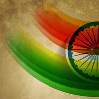 bandiera indiana di stile del grunge vettore