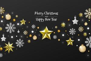natale e felice anno nuovo vettore
