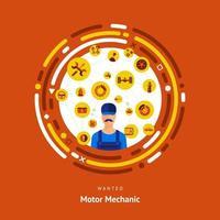 uomo meccanico a motore vettore