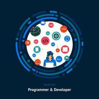 capacità di sviluppo del programmatore vettore