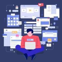 strumenti di monitoraggio dei social media vettore